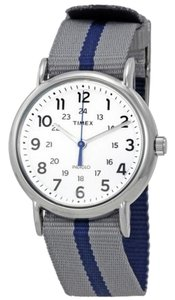 Timex TW2P72300 Weekender Men's Two Tone Fabric Band With White Dial