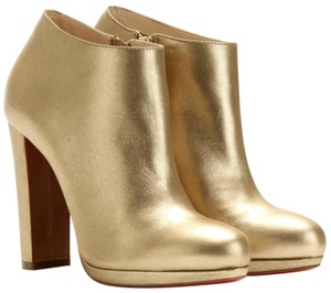 Christian Louboutin Gold 120 Boots