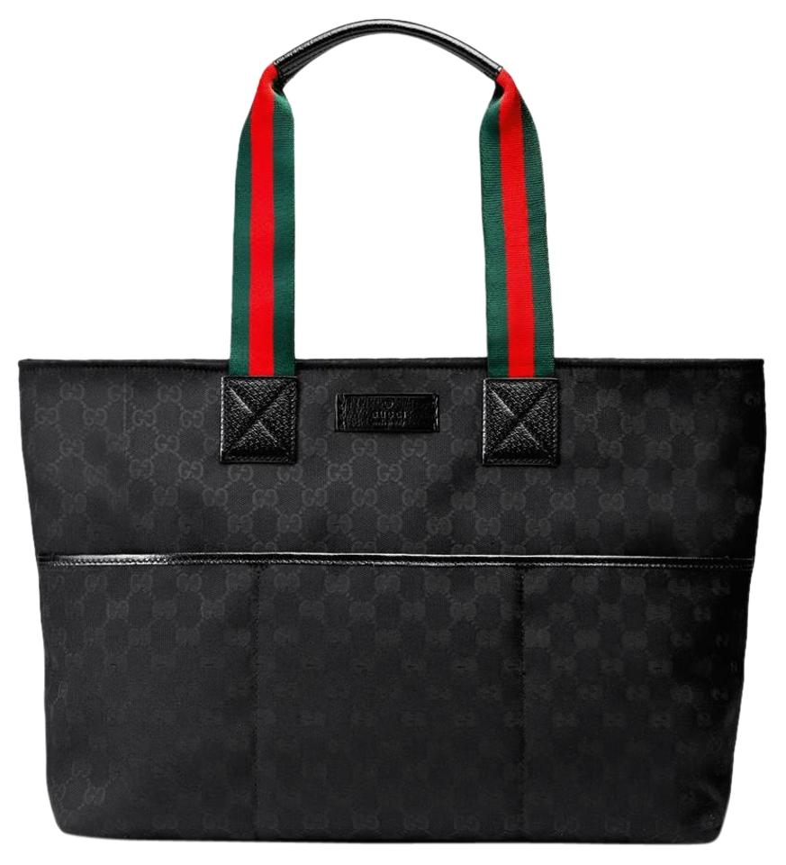 ec0e7280431d10 Gucci New Boys Girls Changing Pad 15552 Black Canvas Diaper Bag ...
