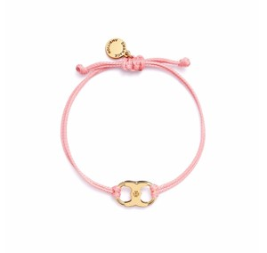 Tory Burch New Tory Burch Embrace Ambition Silk Gemini Bracelet Pink