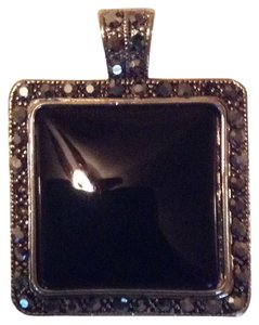 Unknown Black With Black Rhinestones Pendent