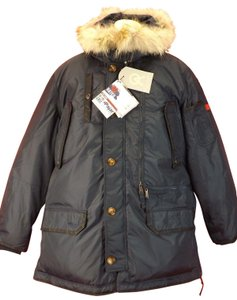 Pajar Navy XL New Eagle Nylon Coyote Fur Hoodie Resistant Parka Jacket Canad