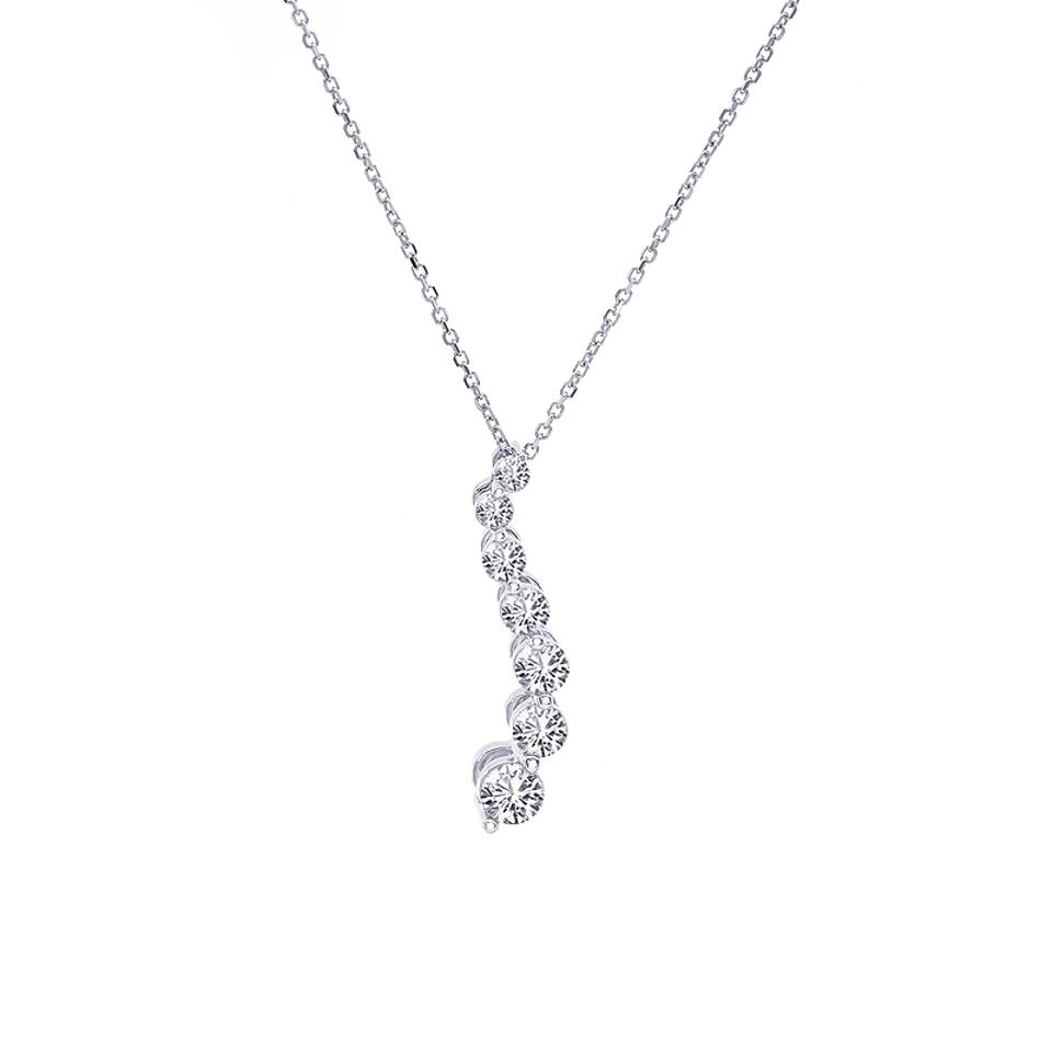 Avital co jewelry white gold 045 carat round cut diamond journey avital co jewelry 045 carat round cut diamond journey pendant 14k white gold aloadofball Images