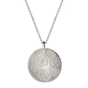 Me & Ro Me & Ro Sterling Silver Large Double Sided Geisha Pendant