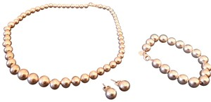 Tiffany & Co. Tiffany Beads Set Necklace Earrings Bracelet Silver