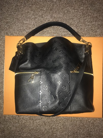 75d7fc02b460 Louis Vuitton Melie Black Leather Hobo Bag Tradesy