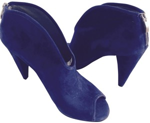 Vince Camuto Suade Peep-toe Midnight Boots