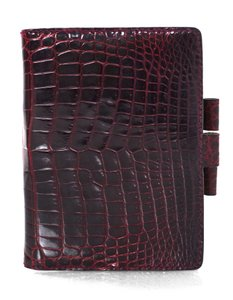 Gucci Gucci Vintage Burgundy Glazed Crocodile Mini Agenda