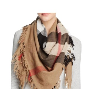 Burberry Burberry Large Check Wool Square Scarf