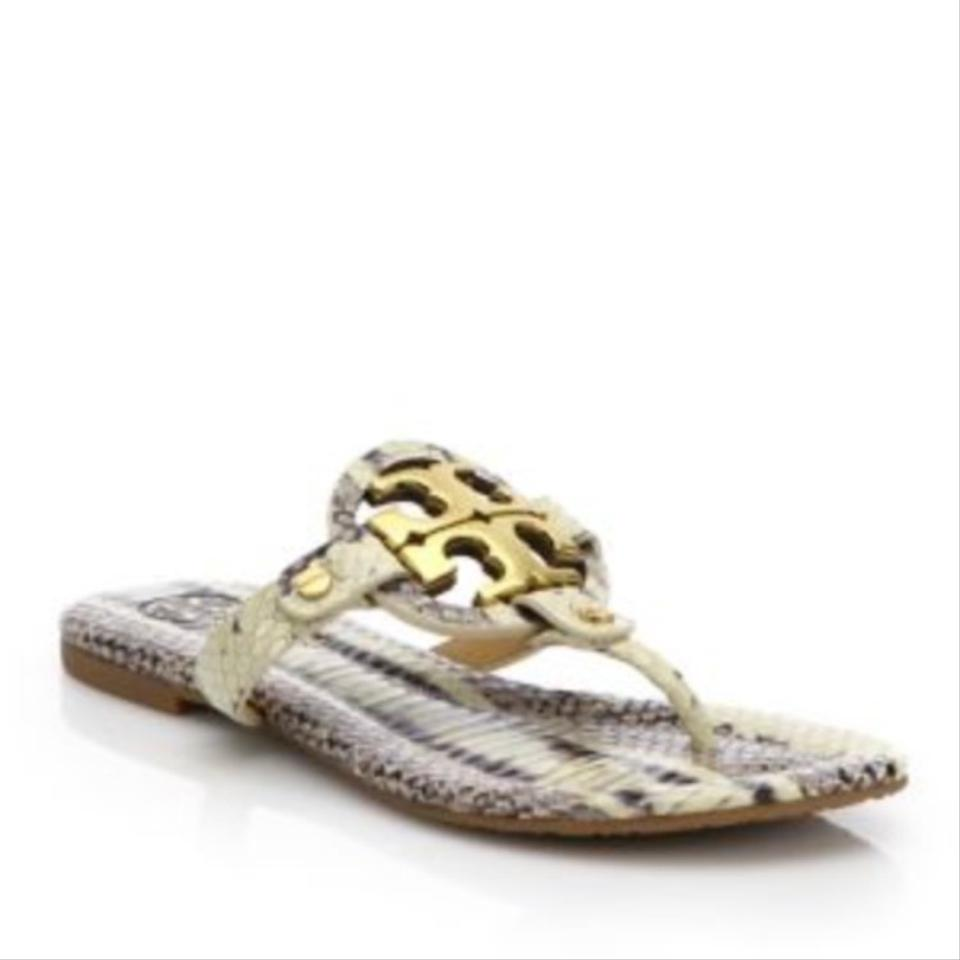 b0214f7a13f Snake Print Sandals. Size  US 7.  112.00 Shipping Included. View Original  Listing. Tory Burch Sandals Image 0