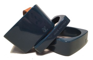 Louis Vuitton Louis Vuitton Dark Teal Acrylic Bangle Set