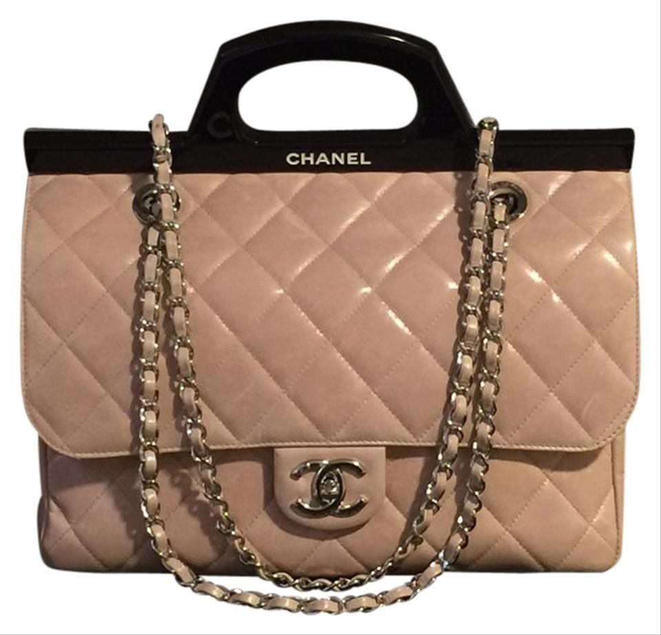 111fc6f8cd6f Chanel Small Cc Delivery Tote Quilted Glazed Shoulder Blush Pink ...