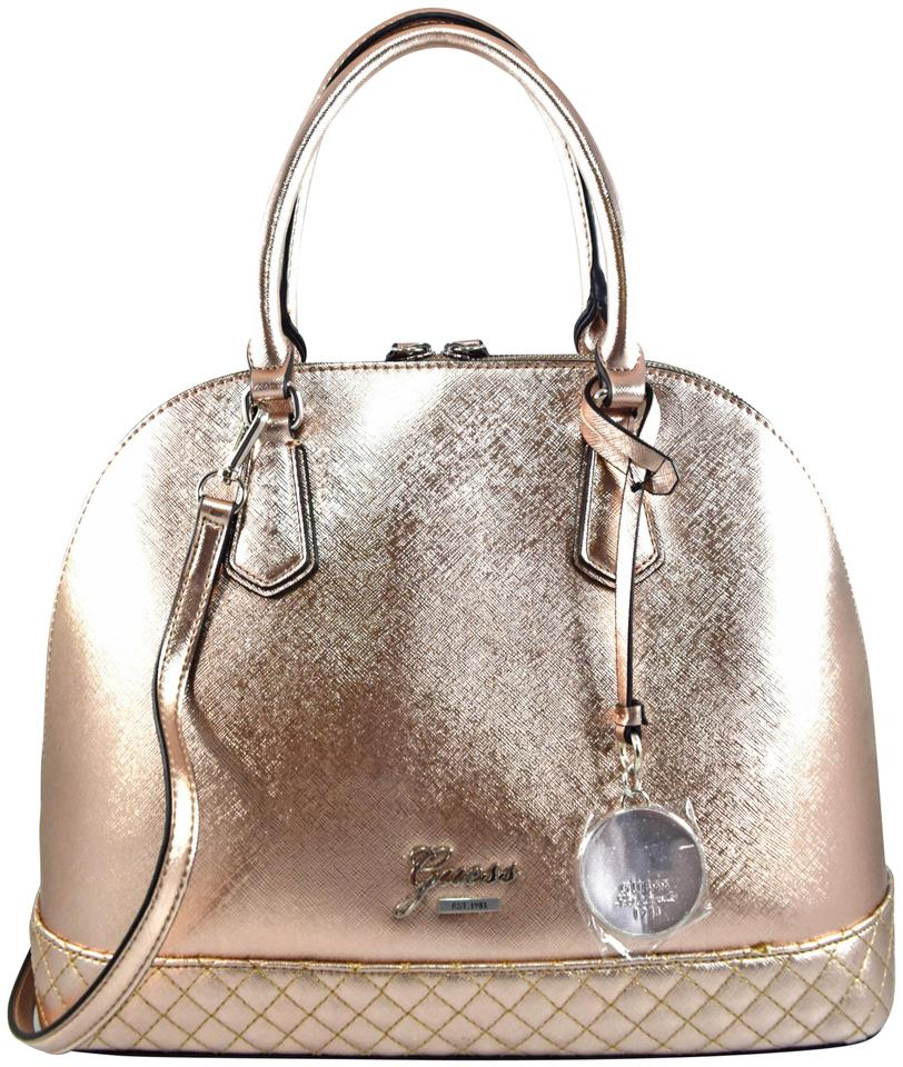 1d4d2eb98c Guess Emueshe Rose Gold Faux Leather Satchel - Tradesy