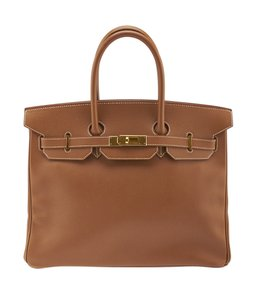 Hermès Leather Satchel in Brown