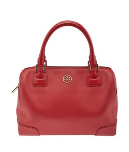 Tory Burch Xleather Satchel in Red