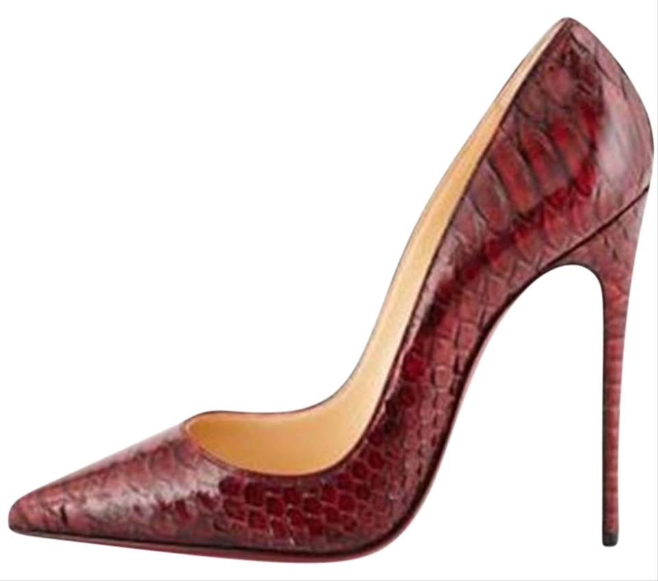 ad93c63ce383 Christian Louboutin Heels Stiletto So Kate Inferno Python Oeilet Red Pumps  Image 0 ...