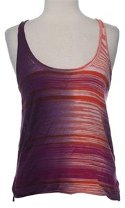 Rachel Roy Space Top peach purple hombre stripe