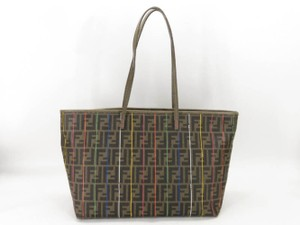 FENDI Neverfull Roll Tote Spalmati Rainbow Stripe Shoulder Bag