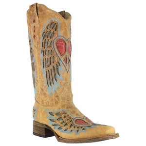 Corral Boots Western Tan/turquoise Boots