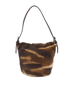 Fendi Pony Hair Pochette Shoulder Bag