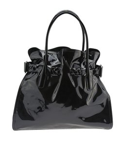 Valentino Patent Leather Satchel in Black