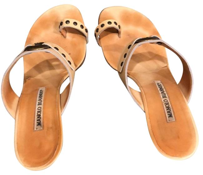 Item - Nude Sandals Size EU 38.5 (Approx. US 8.5) Regular (M, B)