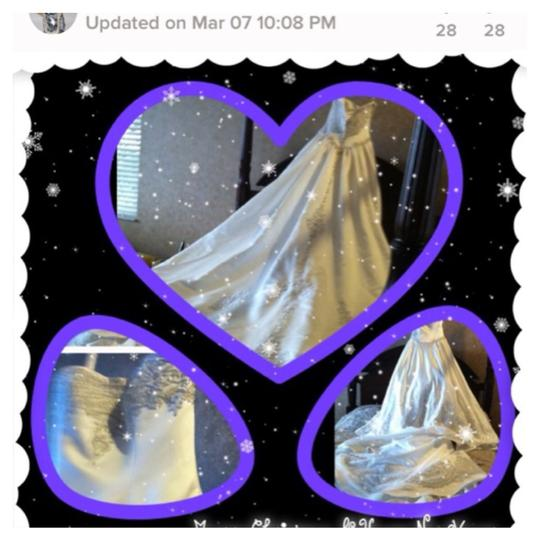 Mary's Bridal Off White Dress Size 8 (M)