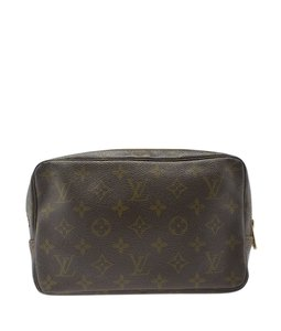 Louis Vuitton Coated Canvas Cosmetic Brown Travel Bag