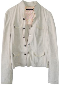 Elie Tahari Military Beige Work Jacket