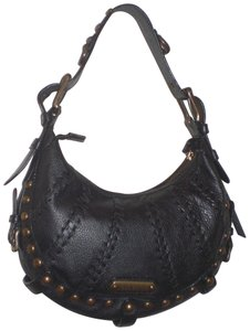 Isabella Fiore Leather Studded Hobo Bag