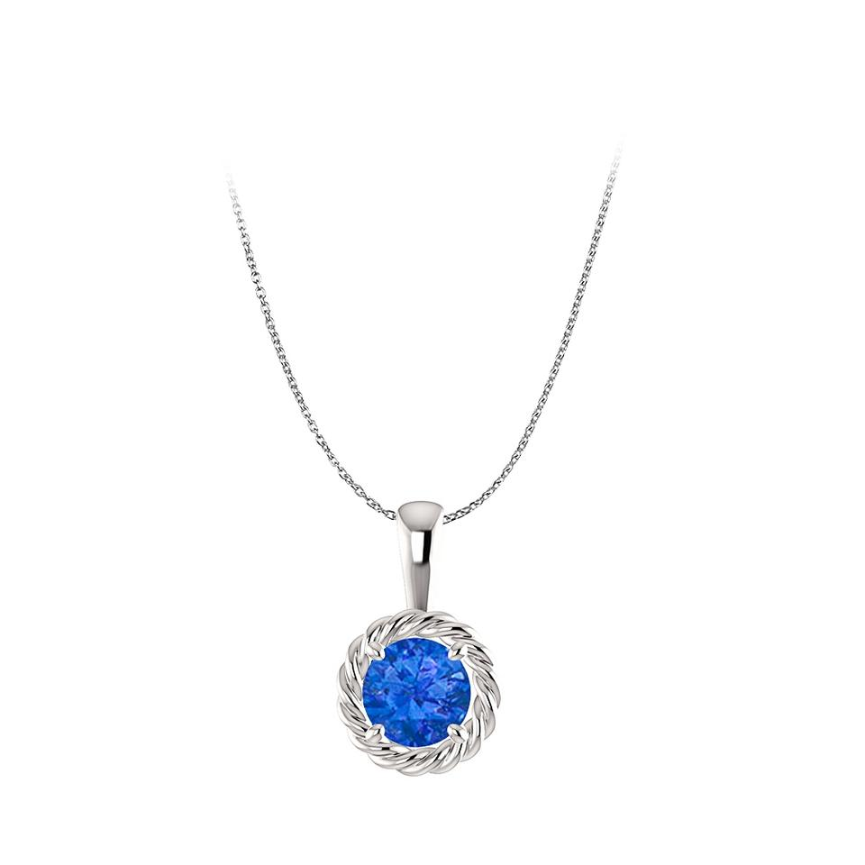 Blue white gold stunning sapphire pendant in 14k free chain necklace marco b stunning sapphire pendant in 14k white gold free chain aloadofball Gallery