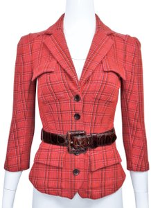 Diane von Furstenberg Pink, Red & Brown Jacket