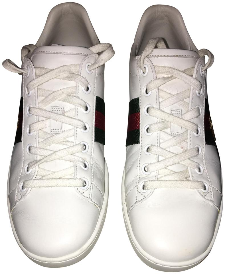 d4fae3794ea Gucci White   Green   Red Women s Ace Embroidered Sneaker Sneakers ...
