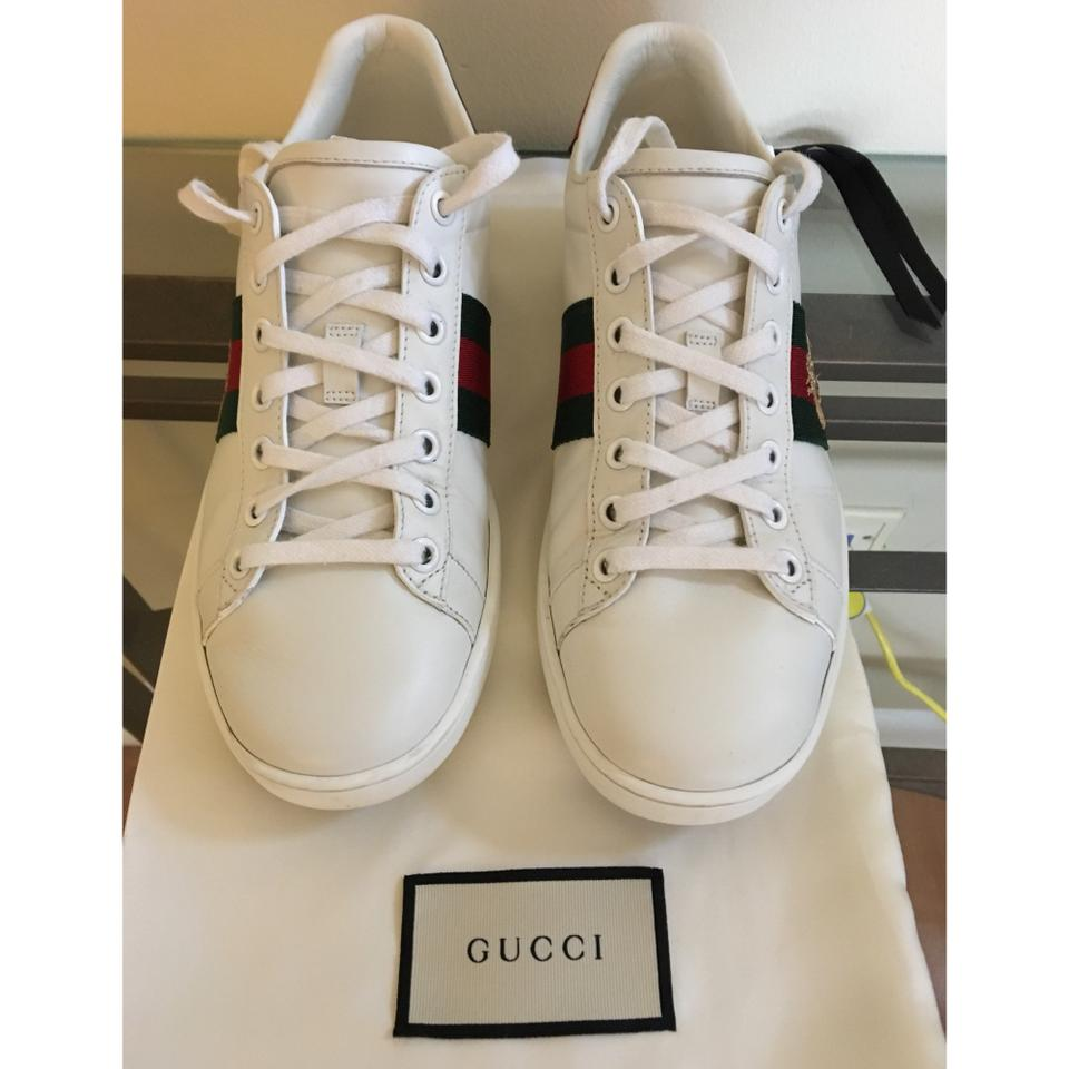 851eea7da Gucci Womenu0026#39;s Ace Embroidered Sneaker White / Green / Red Athletic  Shoes