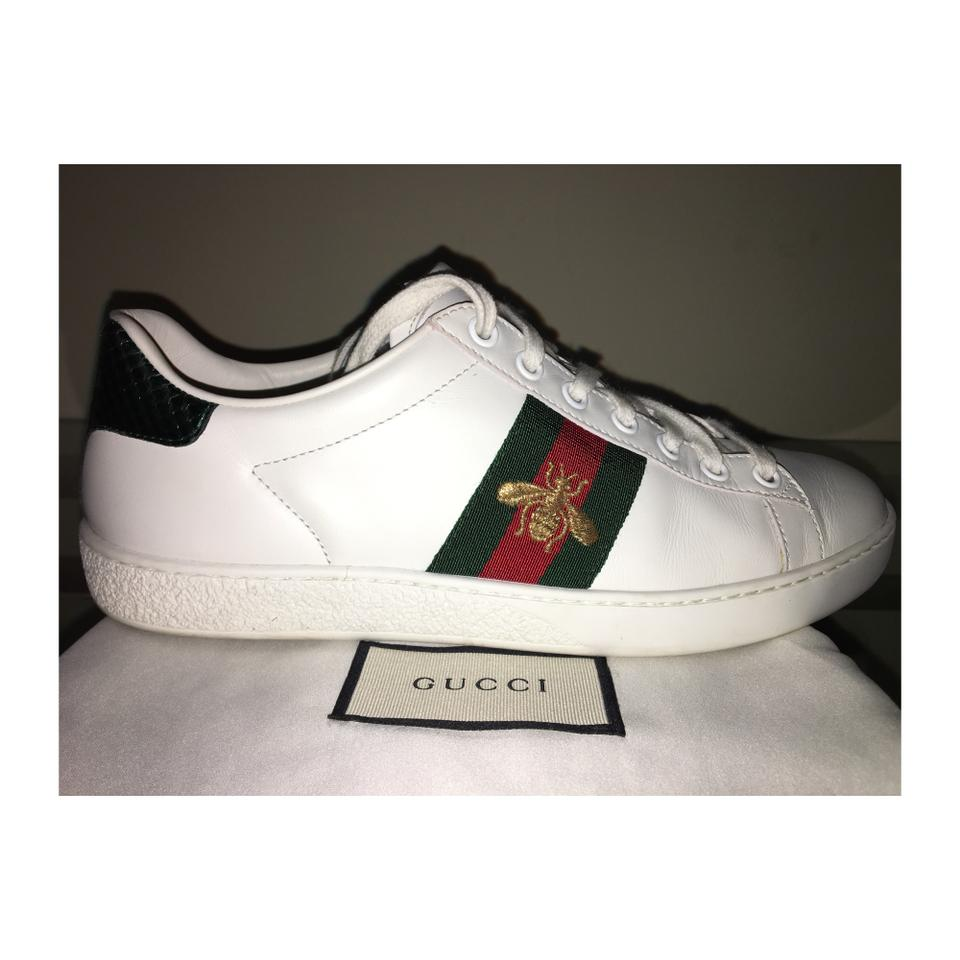 White Gold Gucci Shoes