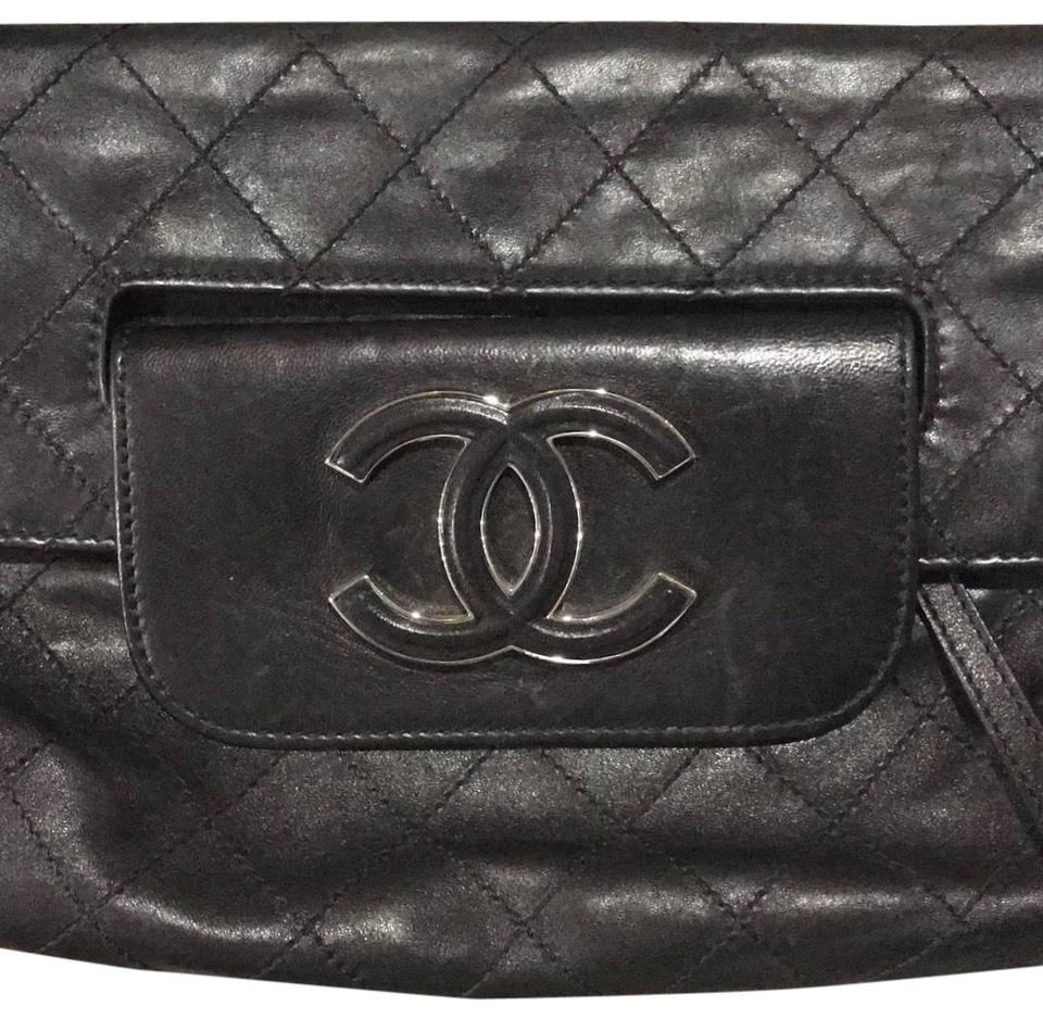 957362440a7eaf Chanel Clutch Quilted Black Leather Clutch - Tradesy