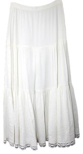 Theory Linen Maxi Skirt WHITE