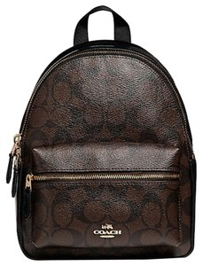 Coach Charlie Canvas Signature Black Backpack