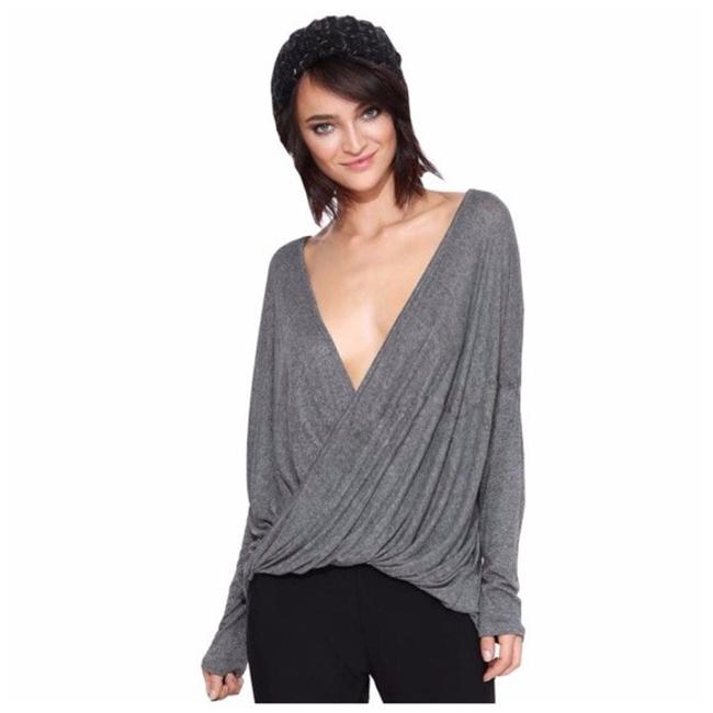 Other Loose Fit Flowy Top Light Gray Image 0