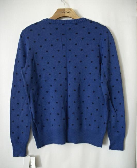 Liz Claiborne Blue Longsleeve Sweat Winter Sweater Image 1