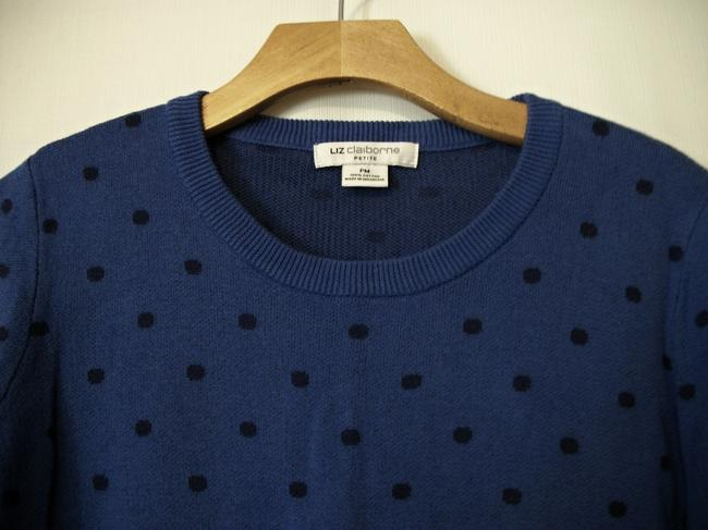 Liz Claiborne Blue Longsleeve Sweat Winter Sweater Image 2
