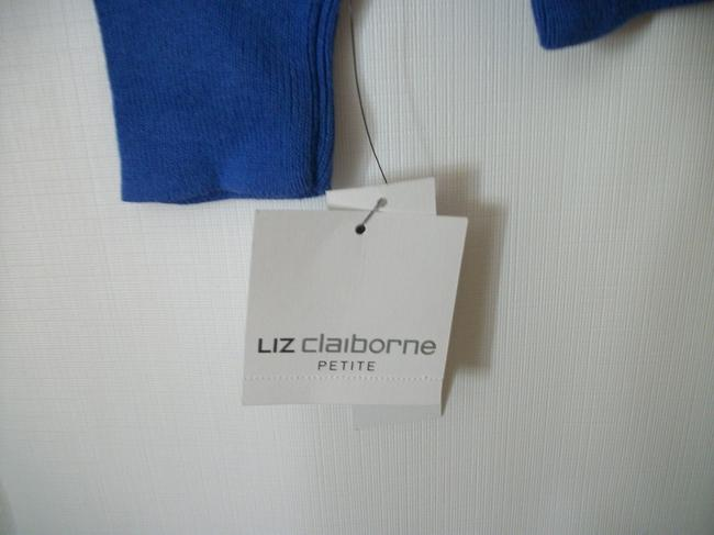 Liz Claiborne Blue Longsleeve Sweat Winter Sweater Image 4