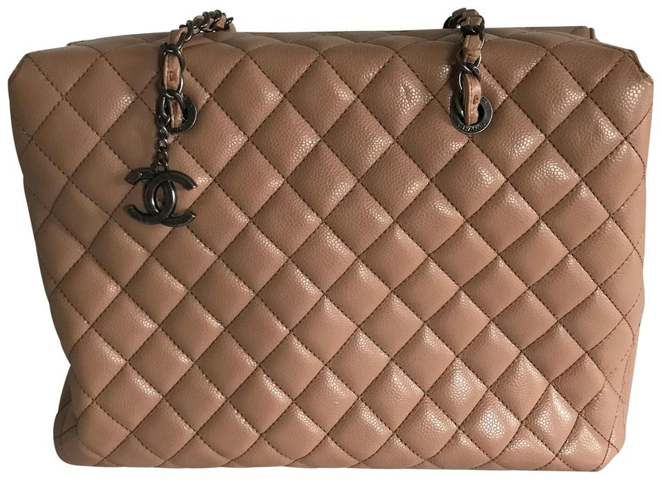 88b089f4e311 Chanel Shopping Bag Large Quilted 30cm Beige Leather Tote - Tradesy