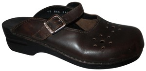 Dansko Leather Mary Jane brown Mules