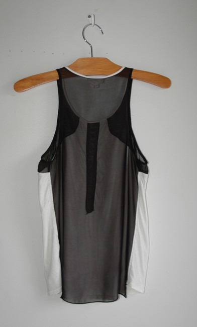 Helmut Lang Top Black and White Image 3