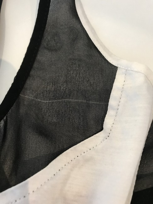 Helmut Lang Top Black and White Image 5