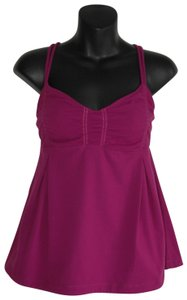 Lululemon cage back cut out fuchsia raspberry tank