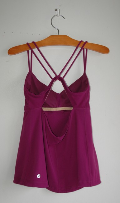 Lululemon cage back cut out fuchsia raspberry tank Image 2
