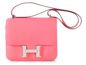 Hermès Hr.l1010.02 Rose 24 Palladium Cross Body Bag