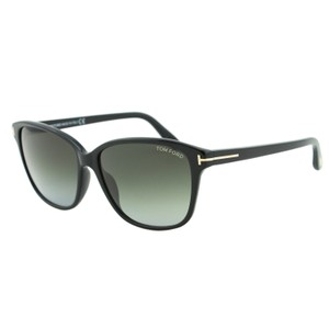 Tom Ford New TOM FORD DANA FT 0432 Black & Gold T-Logo Squared Sunglasses